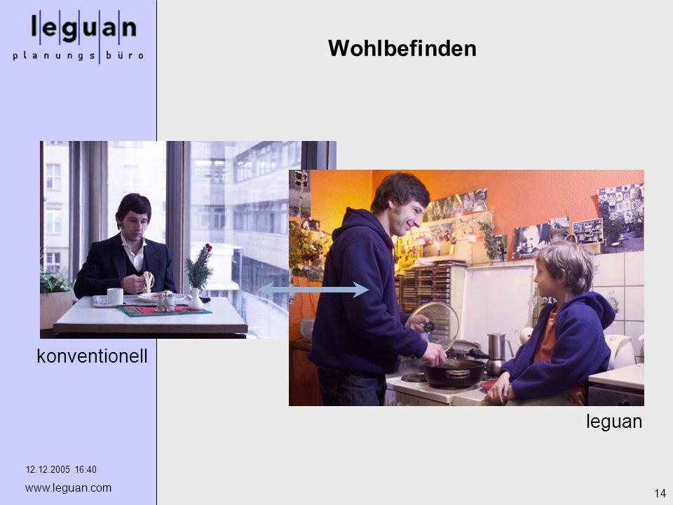 12.12.2005 16:40 www.leguan.com 14 Wohlbefinden leguan konventionell