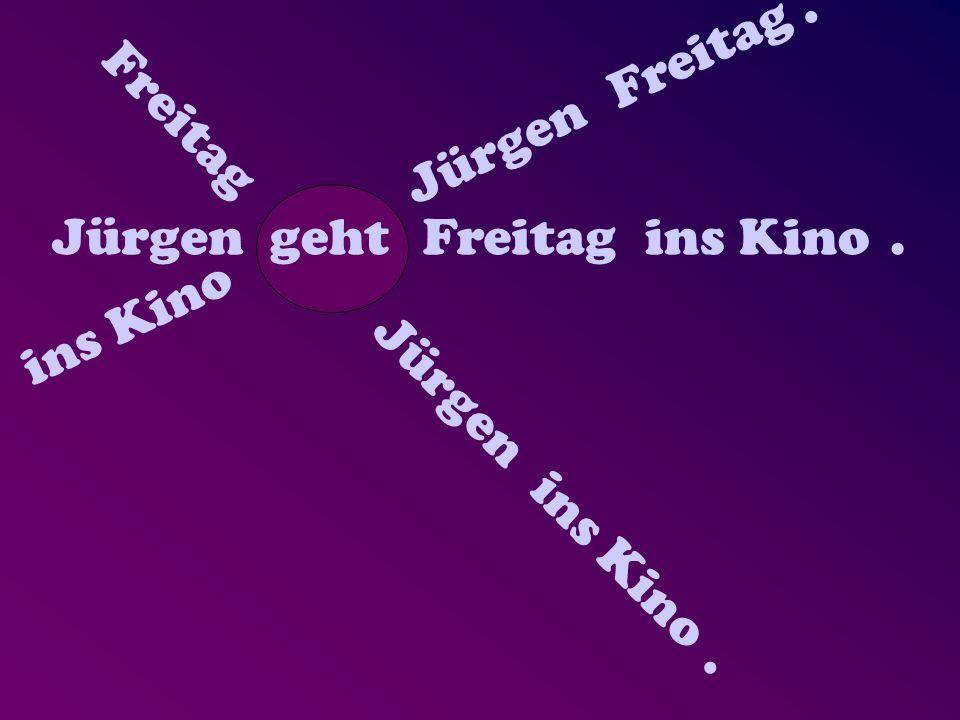 Jürgen geht Freitag ins Kino. JürgengehtFreitagins Kino. JürgengehtFreitagins Kino.