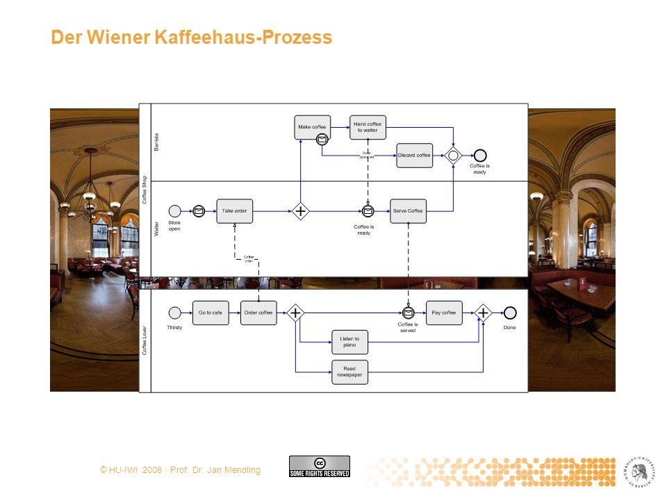 © HU-IWI 2008 · Prof. Dr. Jan Mendling Der Wiener Kaffeehaus-Prozess