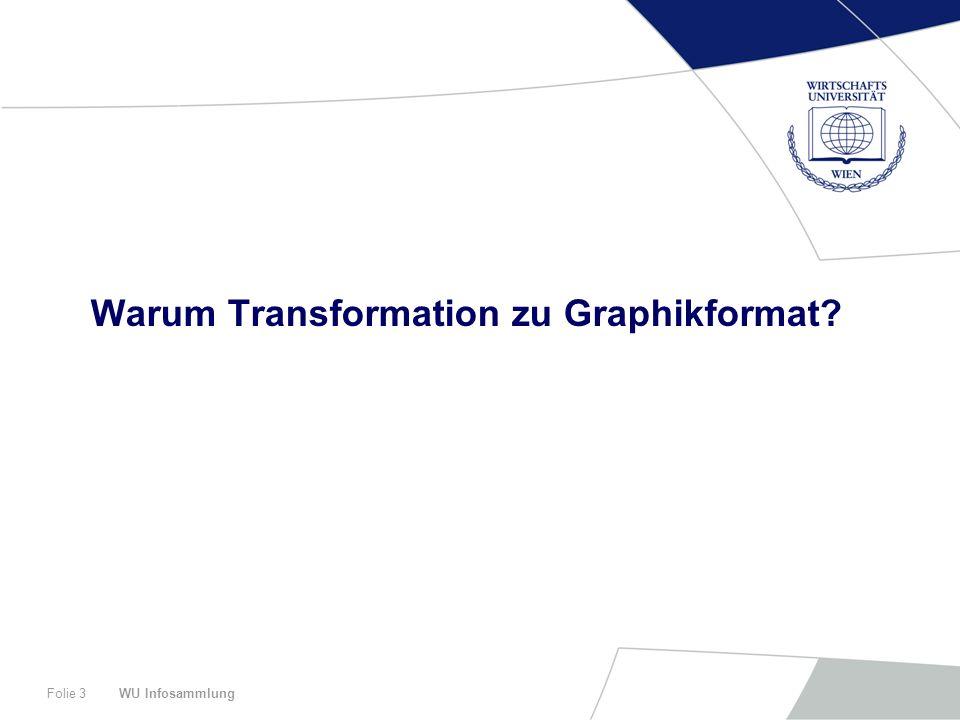 WU InfosammlungFolie 3 Warum Transformation zu Graphikformat?