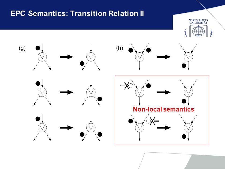 EPC Semantics: Transition Relation II Non-local semantics