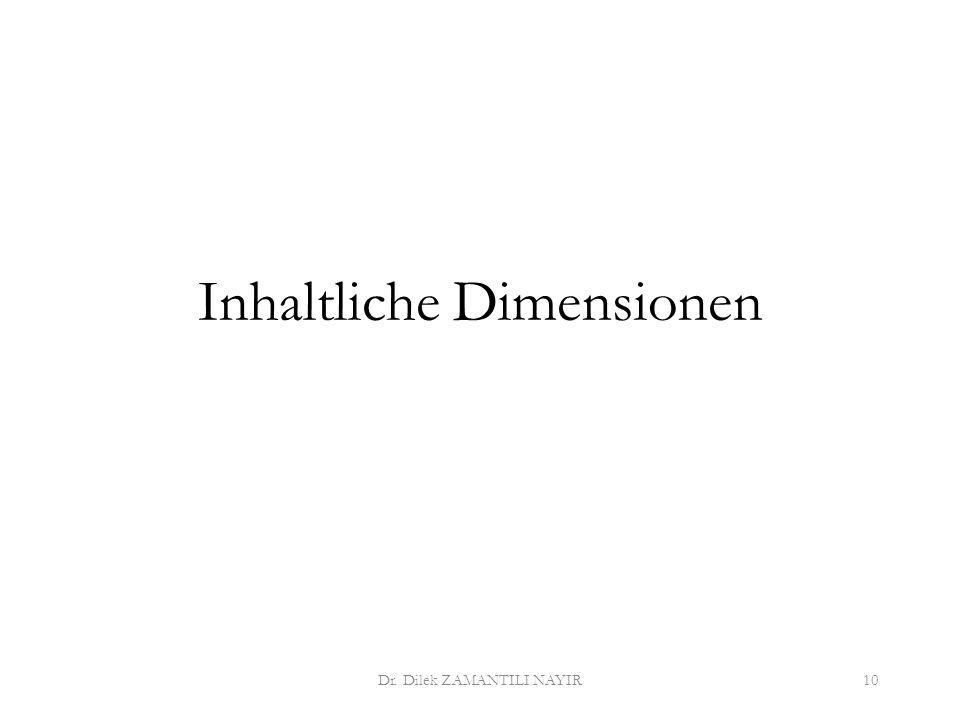 Inhaltliche Dimensionen Dr. Dilek ZAMANTILI NAYIR10