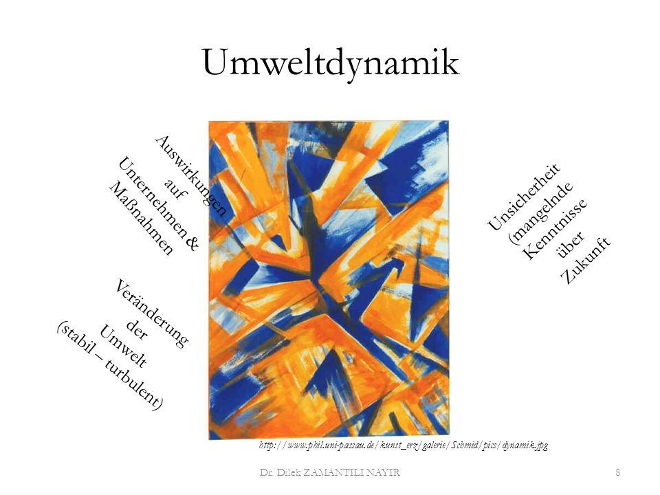 Umweltdruck Dr. Dilek ZAMANTILI NAYIR9 Ausmaß der Reaktionszwanges auf das Unternehmen