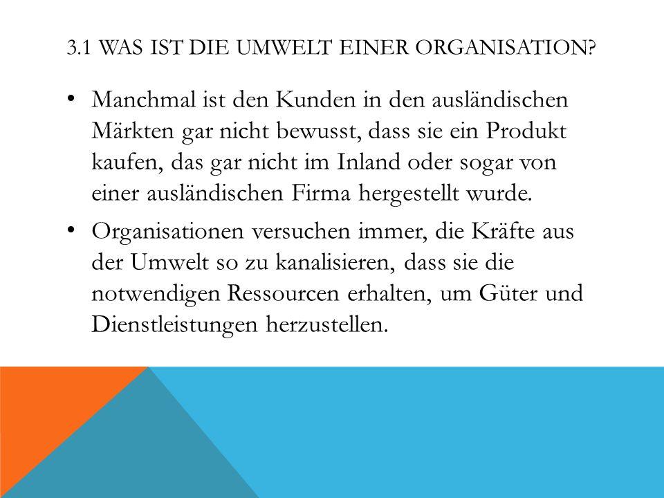 DOMÄNEN UND EINSATZFELDER VON ORGANISATIONEN Organisationen konzentrieren sich auf ein begrenztes Einsatzfeld beziehungsweise einen Bereich oder eine Domäne.