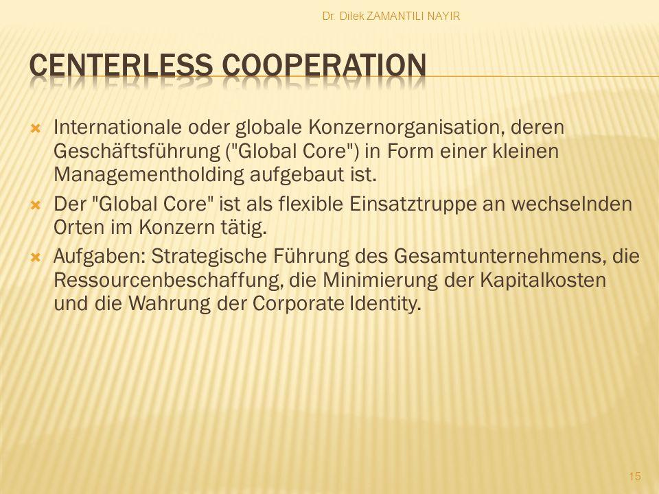 Dr. Dilek ZAMANTILI NAYIR 15 Internationale oder globale Konzernorganisation, deren Geschäftsführung (
