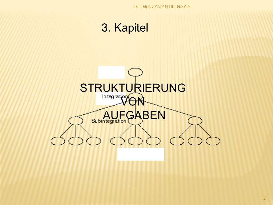 Dr. Dilek ZAMANTILI NAYIR 2 3. Kapitel STRUKTURIERUNG VON AUFGABEN