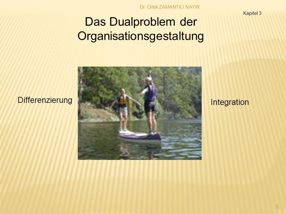 Dr. Dilek ZAMANTILI NAYIR 5 Das Dualproblem der Organisationsgestaltung Differenzierung Integration Kapitel 3