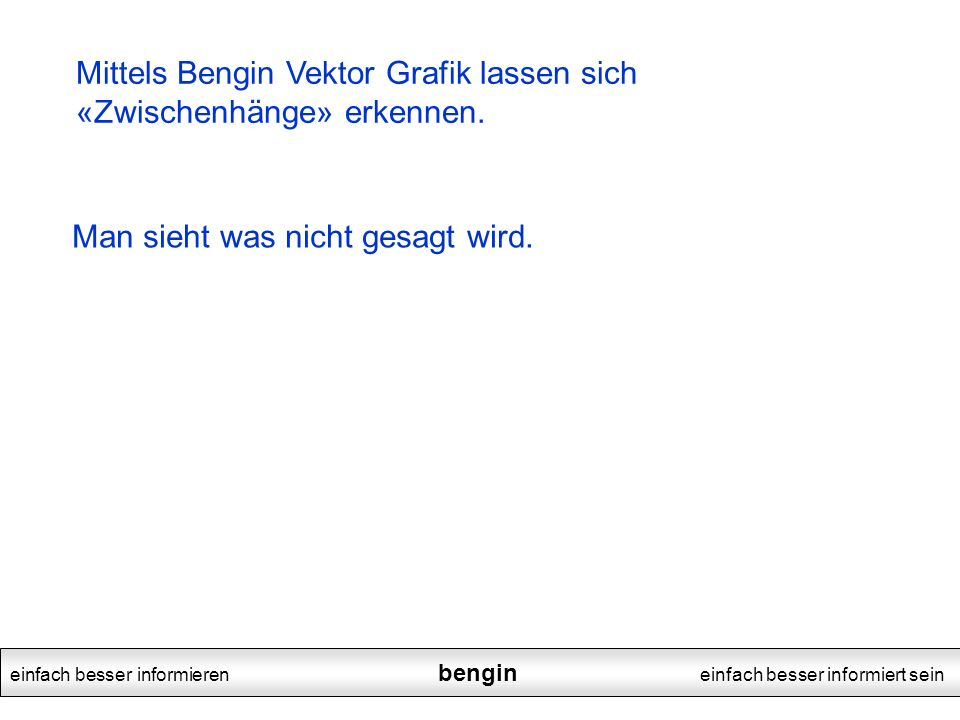 einfach besser informieren bengin einfach besser informiert sein Mittels Bengin Vektor Grafik lassen sich «Zwischenhänge» erkennen.