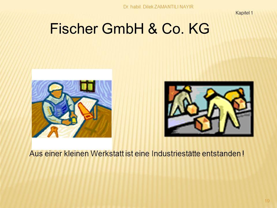 Dr. habil. Dilek ZAMANTILI NAYIR 19 Aus einer kleinen Werkstatt ist eine Industriestätte entstanden ! Fischer GmbH & Co. KG Kapitel 1