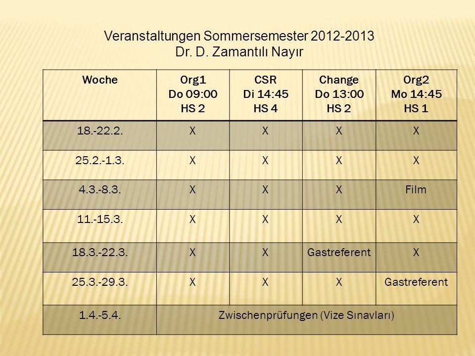 WocheOrg1 Do 09:00 HS 2 CSR Di 14:45 HS 4 Change Do 13:00 HS 2 Org2 Mo 14:45 HS 1 18.-22.2.XXXX 25.2.-1.3.XXXX 4.3.-8.3.XXXFilm 11.-15.3.XXXX 18.3.-22