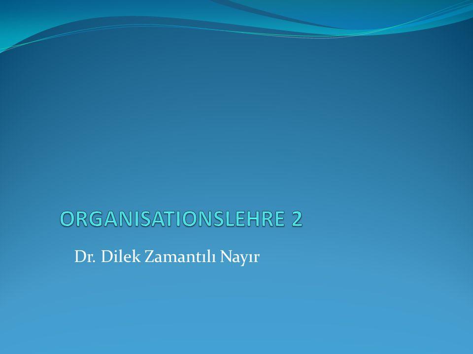 Der funktionale Organisationsbegriff Konzentration auf das System der Regeln selbst.