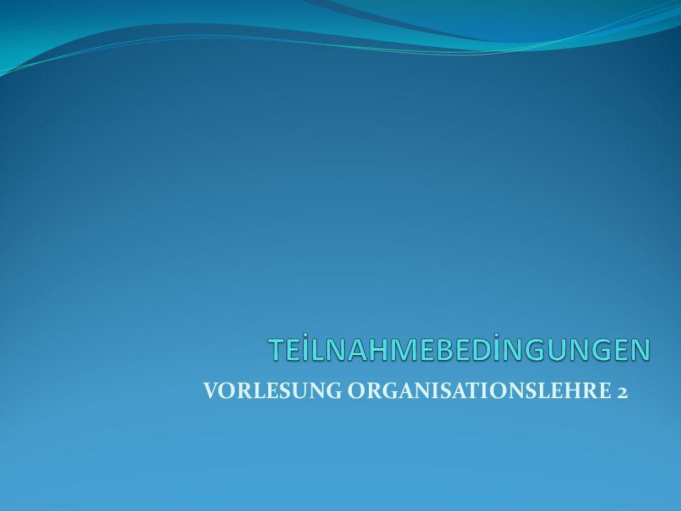 Wollen nicht … Zielsystem des Individuums weicht von dem der Organisation ab.