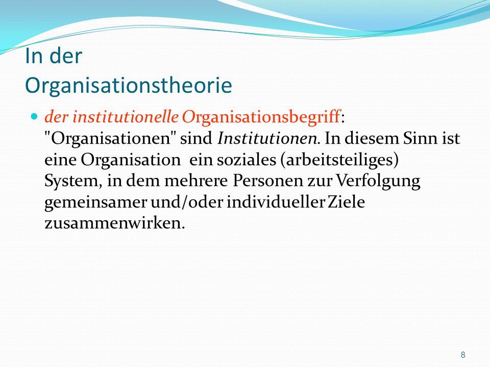 Strukturen und Organisationstypen 2.Strukturen müssen festgelegt werden (z.B.