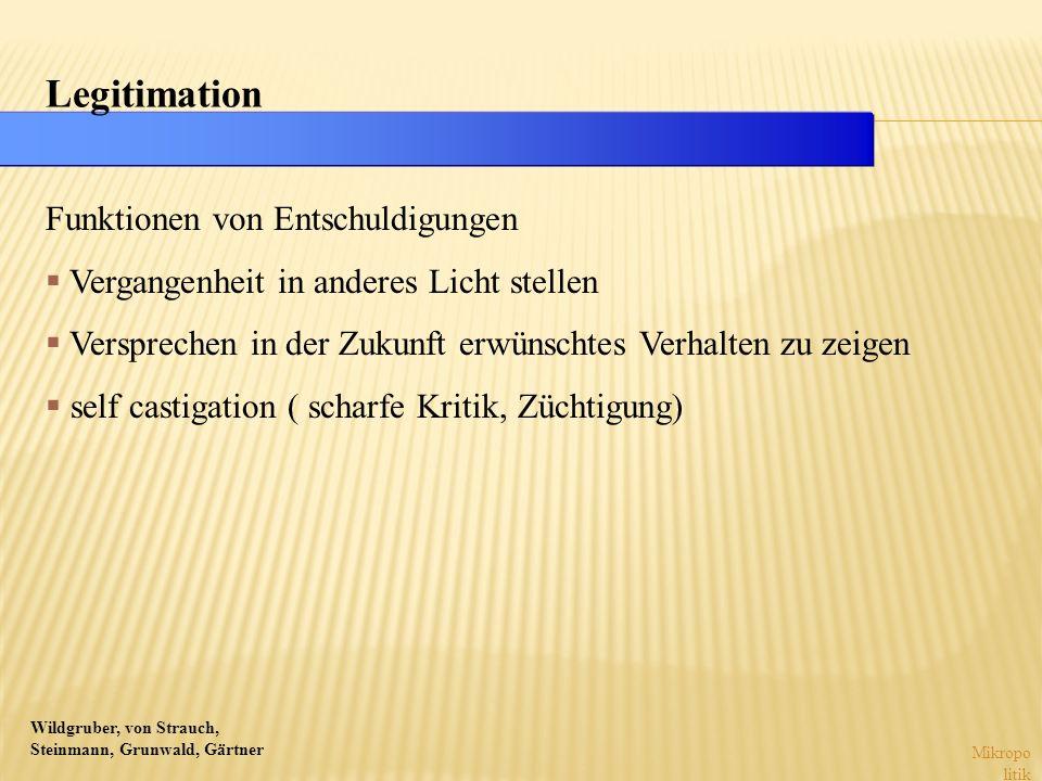 Wildgruber, von Strauch, Steinmann, Grunwald, Gärtner Mikropo litik Funktionen von Entschuldigungen Vergangenheit in anderes Licht stellen Versprechen