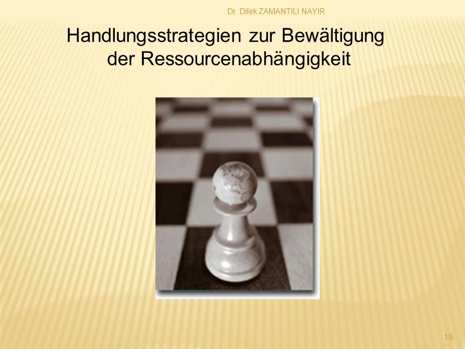 Dr. Dilek ZAMANTILI NAYIR 19 Handlungsstrategien zur Bewältigung der Ressourcenabhängigkeit