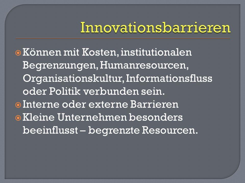 KMU müssen in ihrem Innovationsbestreben unterstützt werden.