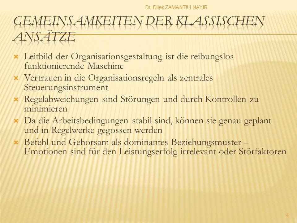Der Sammelbegriff Kontingenztheorie kennzeichnet das gemeinsame Bestreben dieser Ansätze, die funktionale Abhängigkeit organisatorischer Strukturgestaltung von bestimmten Kontextbedingungen aufzuzeigen und empirisch zu belegen (Schreyögg 1995: 10 f.).
