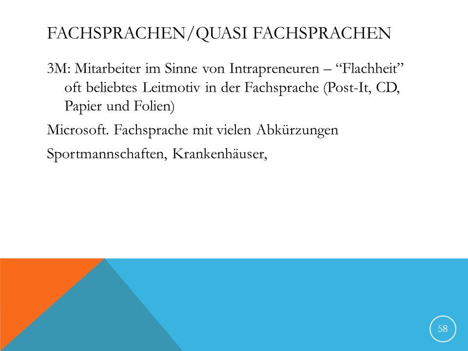 FACHSPRACHEN/QUASI FACHSPRACHEN 3M: Mitarbeiter im Sinne von Intrapreneuren – Flachheit oft beliebtes Leitmotiv in der Fachsprache (Post-It, CD, Papier und Folien) Microsoft.