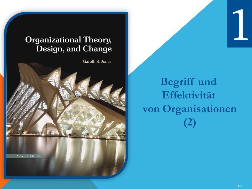 1-1 Begriff und Effektivität von Organisationen (2)