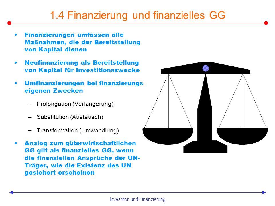 Investition und Finanzierung Mittelherkunft und -verwendung Zusammenhang Investition und Finanzierung