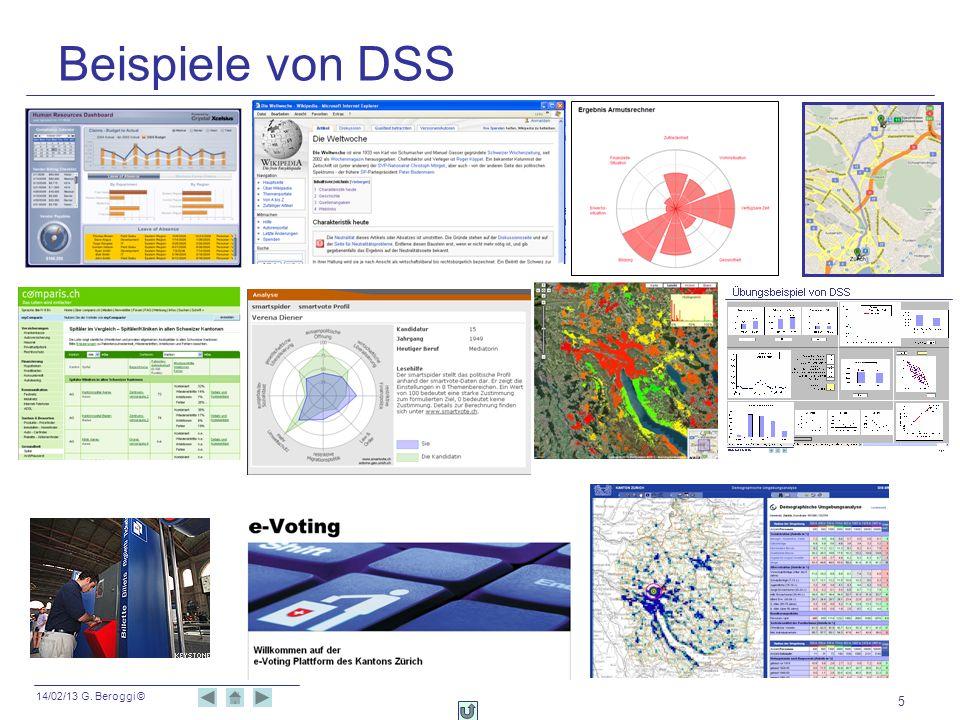 14/02/13 G. Beroggi © 46 DSS in der Finanzplanung