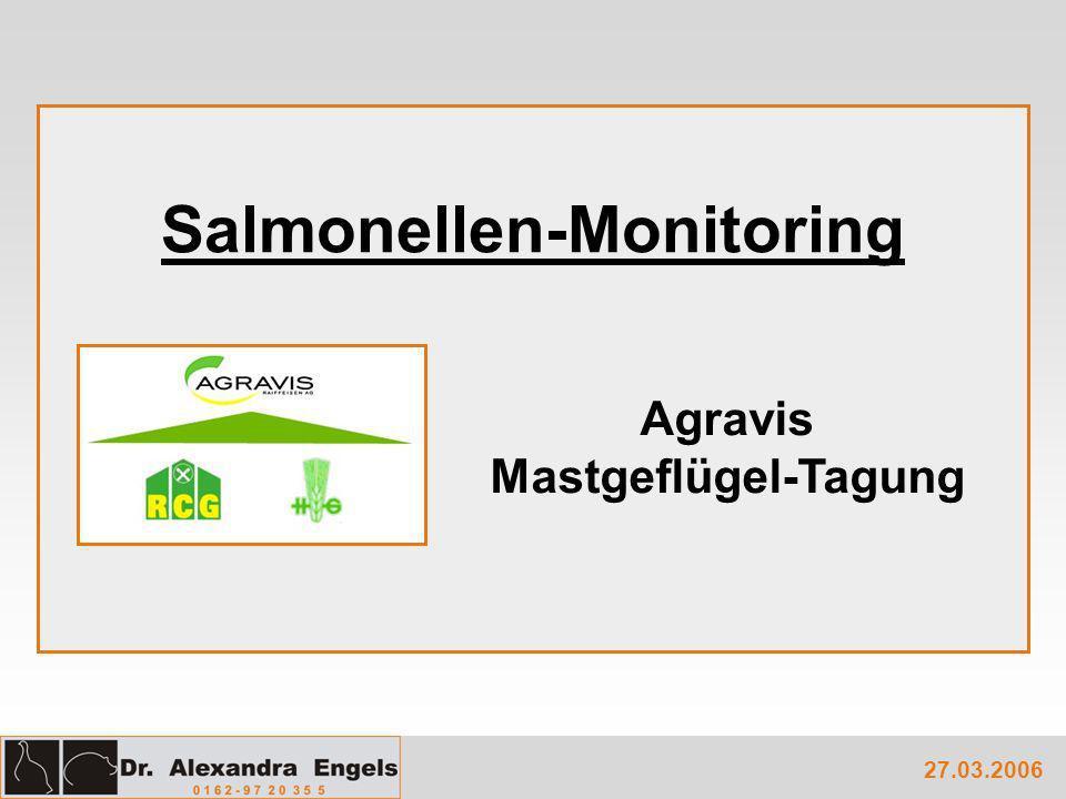 Salmonellen-Monitoring 27.03.2006 Agravis Mastgeflügel-Tagung