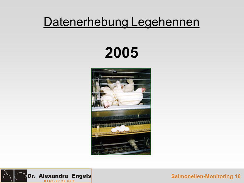 Datenerhebung Legehennen 2005 Salmonellen-Monitoring 16