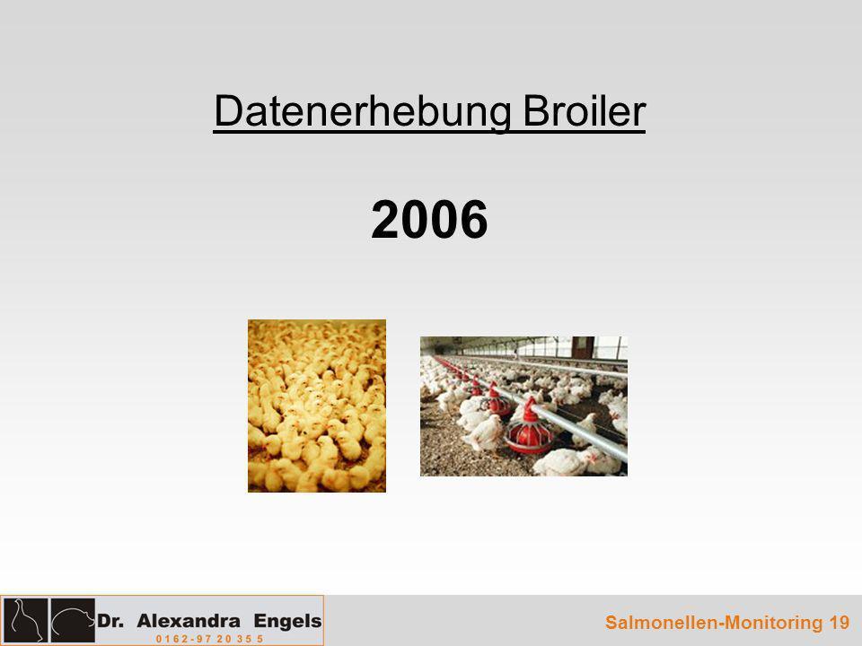 Datenerhebung Broiler 2006 Salmonellen-Monitoring 19