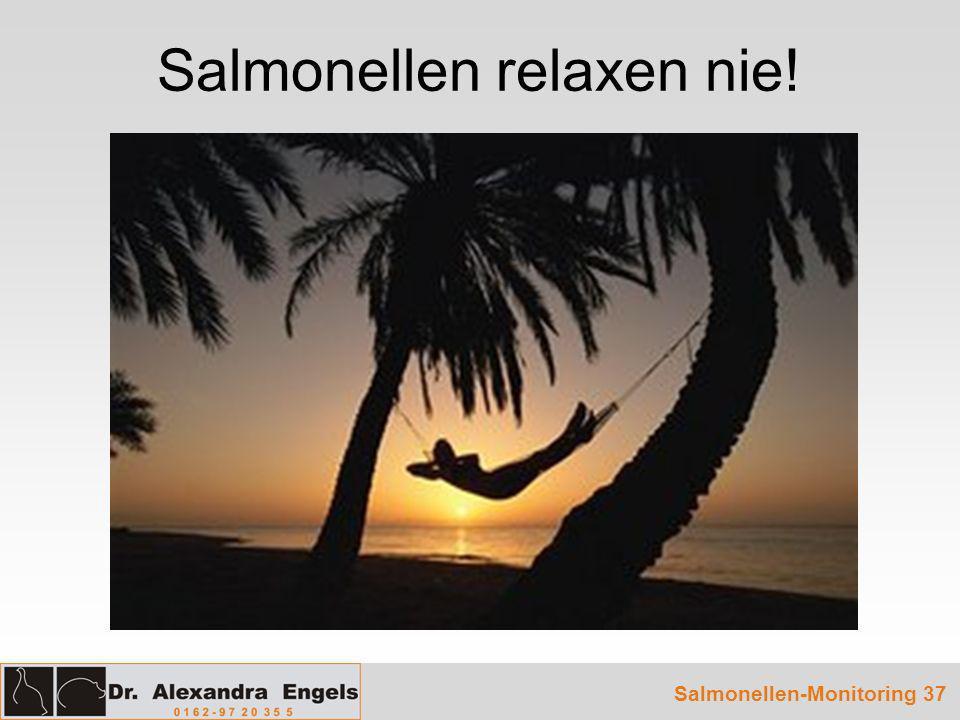 Salmonellen-Monitoring 37 Salmonellen relaxen nie!