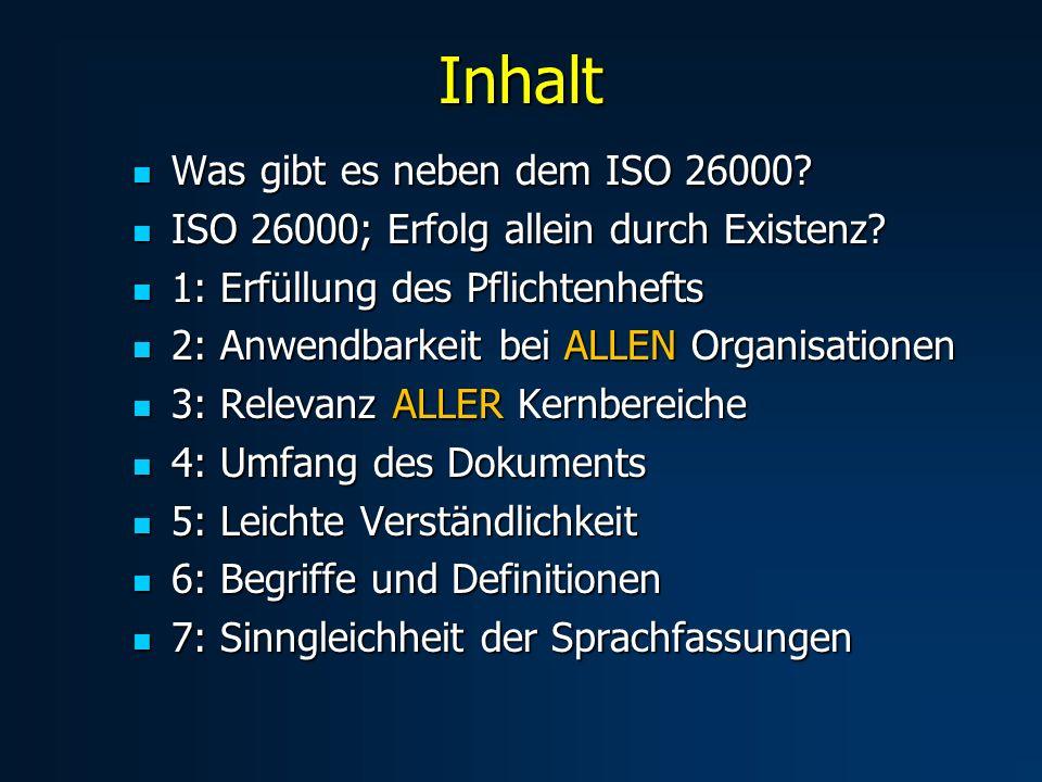 Inhalt Was gibt es neben dem ISO 26000. Was gibt es neben dem ISO 26000.