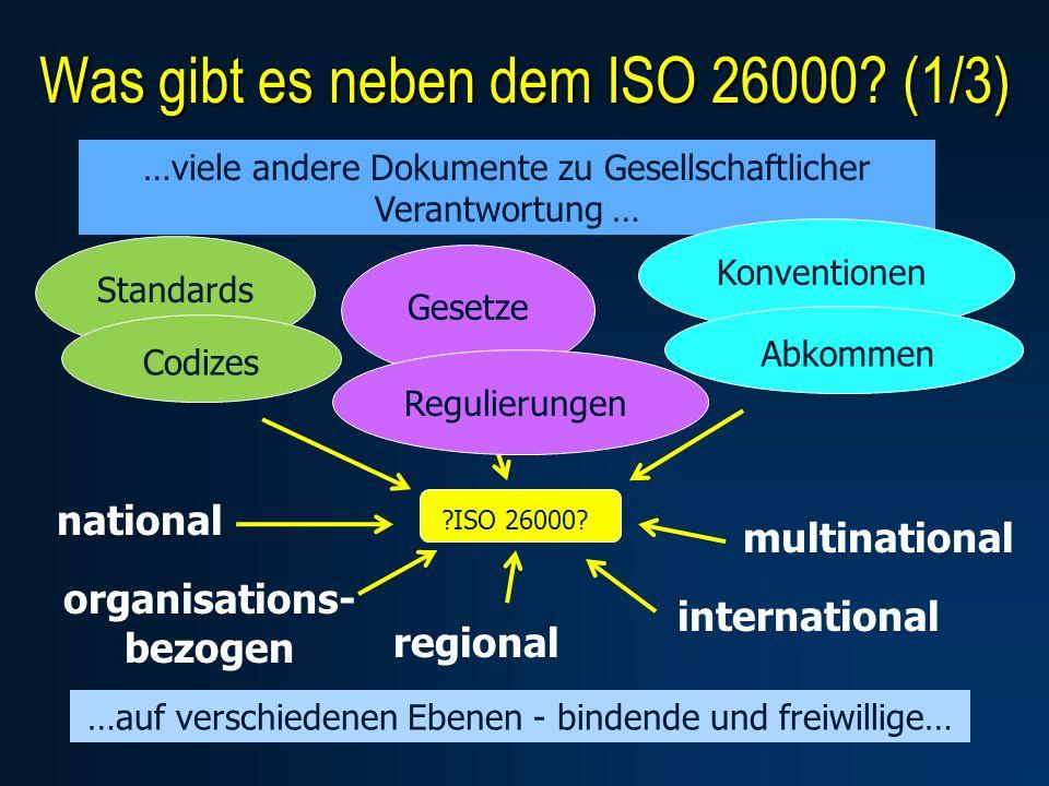 Was gibt es neben dem ISO 26000.