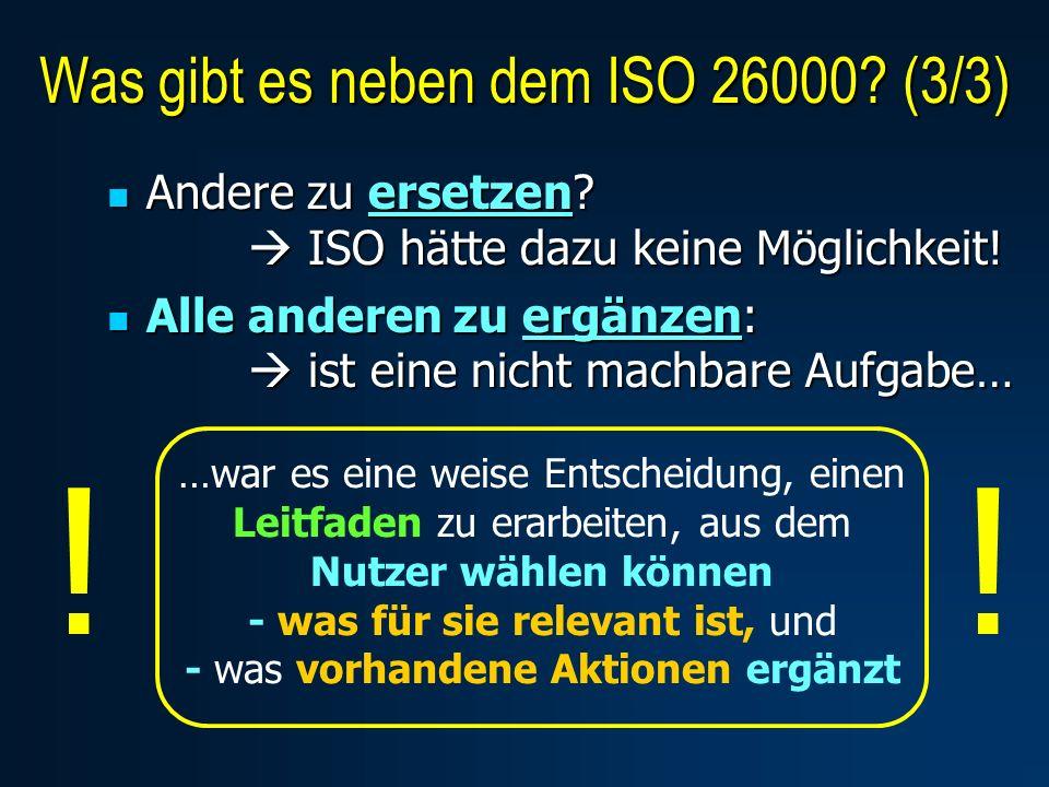 Andere zu ersetzen. ISO hätte dazu keine Möglichkeit.