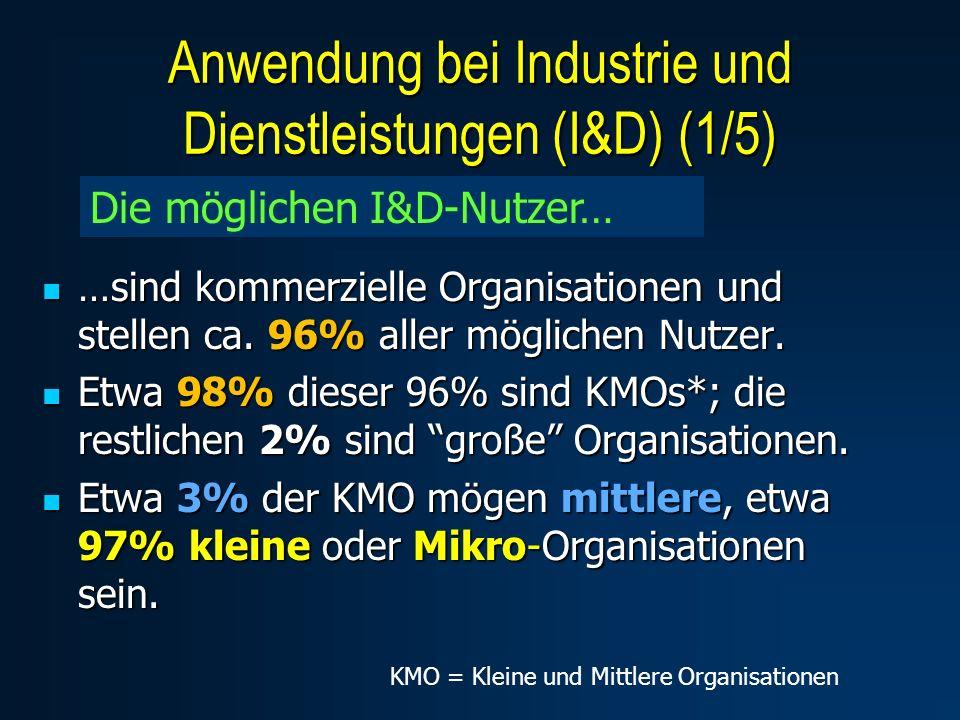 …sind kommerzielle Organisationen und stellen ca. 96% aller möglichen Nutzer. …sind kommerzielle Organisationen und stellen ca. 96% aller möglichen Nu