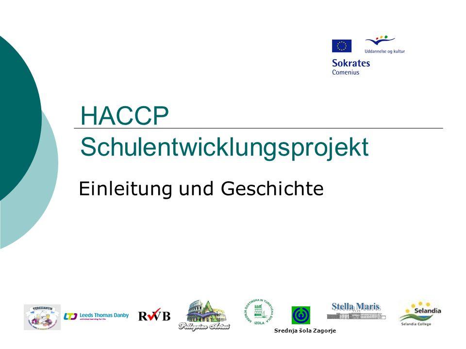 HACCP Schulentwicklungsprojekt Einleitung und Geschichte Srednja šola Zagorje