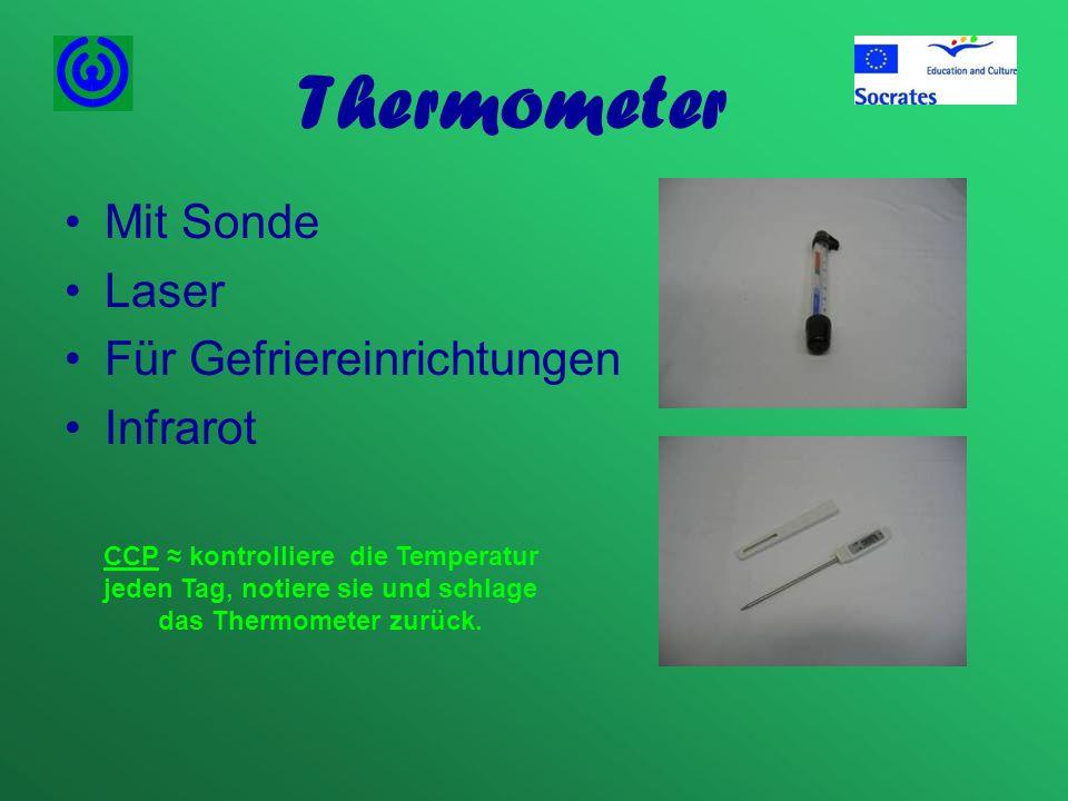 Thermometer Mit Sonde Laser Für Gefriereinrichtungen Infrarot CCP kontrolliere die Temperatur jeden Tag, notiere sie und schlage das Thermometer zurüc