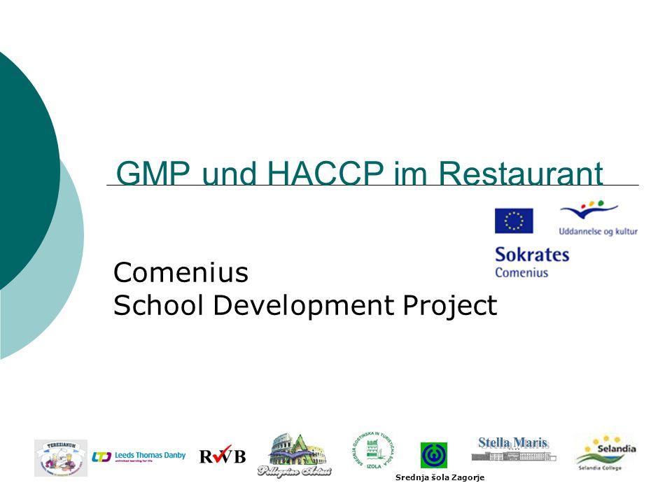 GMP und HACCP im Restaurant Comenius School Development Project Srednja šola Zagorje