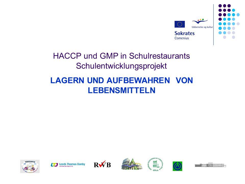 HACCP und GMP in Schulrestaurants Schulentwicklungsprojekt LAGERN UND AUFBEWAHREN VON LEBENSMITTELN
