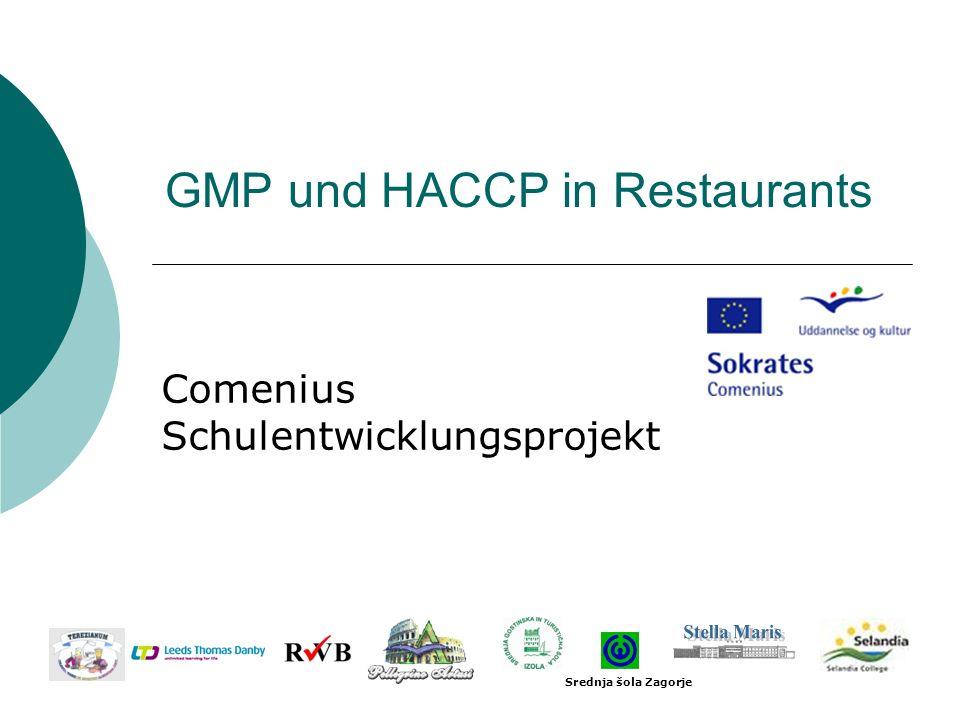 GMP und HACCP in Restaurants Comenius Schulentwicklungsprojekt Srednja šola Zagorje