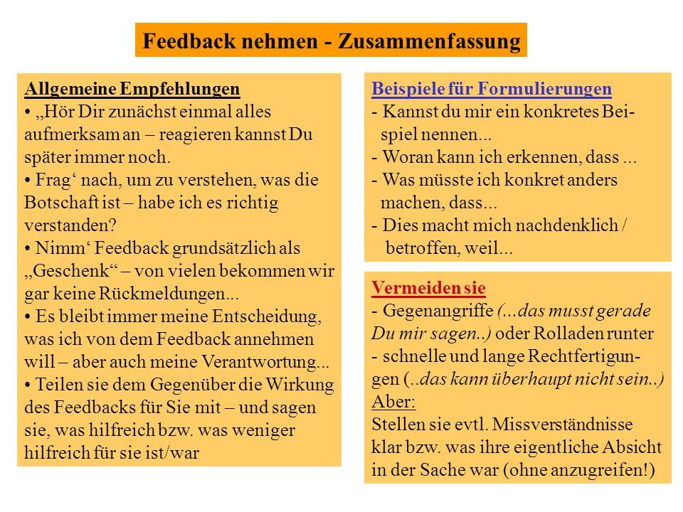 ©2006 by jochen kilgus, managing flow 8 Feedback nehmen - Zusammenfassung Vermeiden sie - Gegenangriffe (...das musst gerade Du mir sagen..) oder Roll