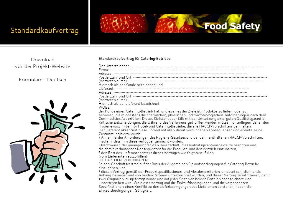 Standardkaufvertrag Standardkaufvertrag für Catering-Betriebe Der Unterzeichner: ---------------------------------------------------------------------