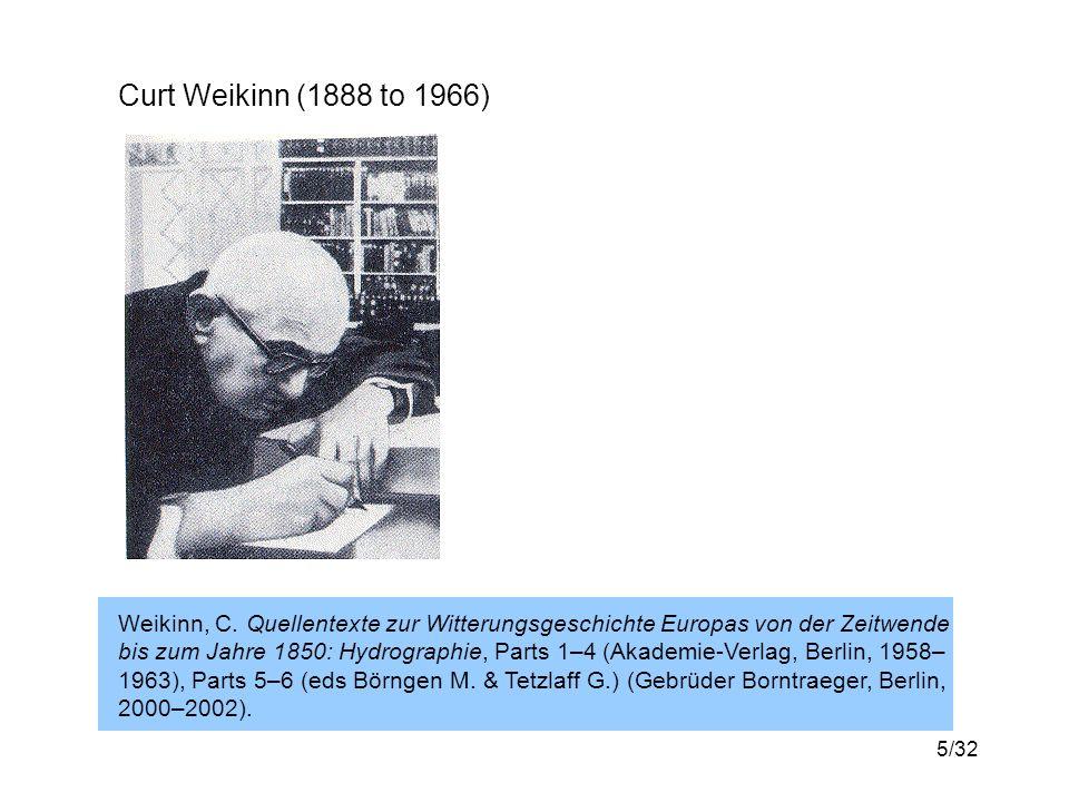 5/32 Curt Weikinn (1888 to 1966) Weikinn, C.