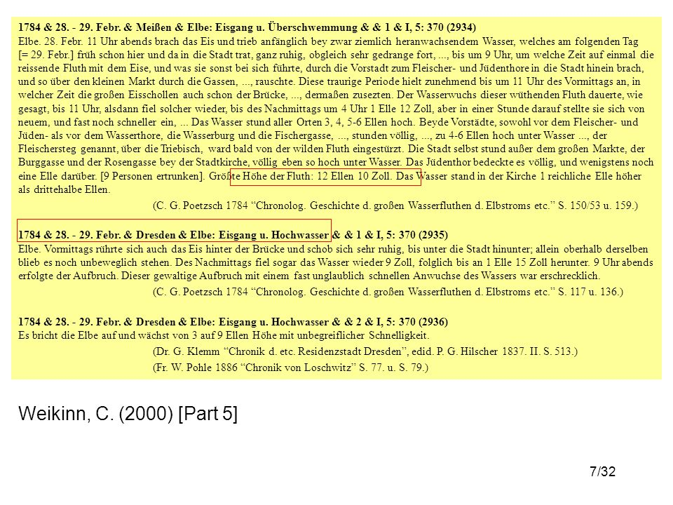 28/32 Elbe, winter, class 2–3 90% percentile confidence band method: Cowling et al.