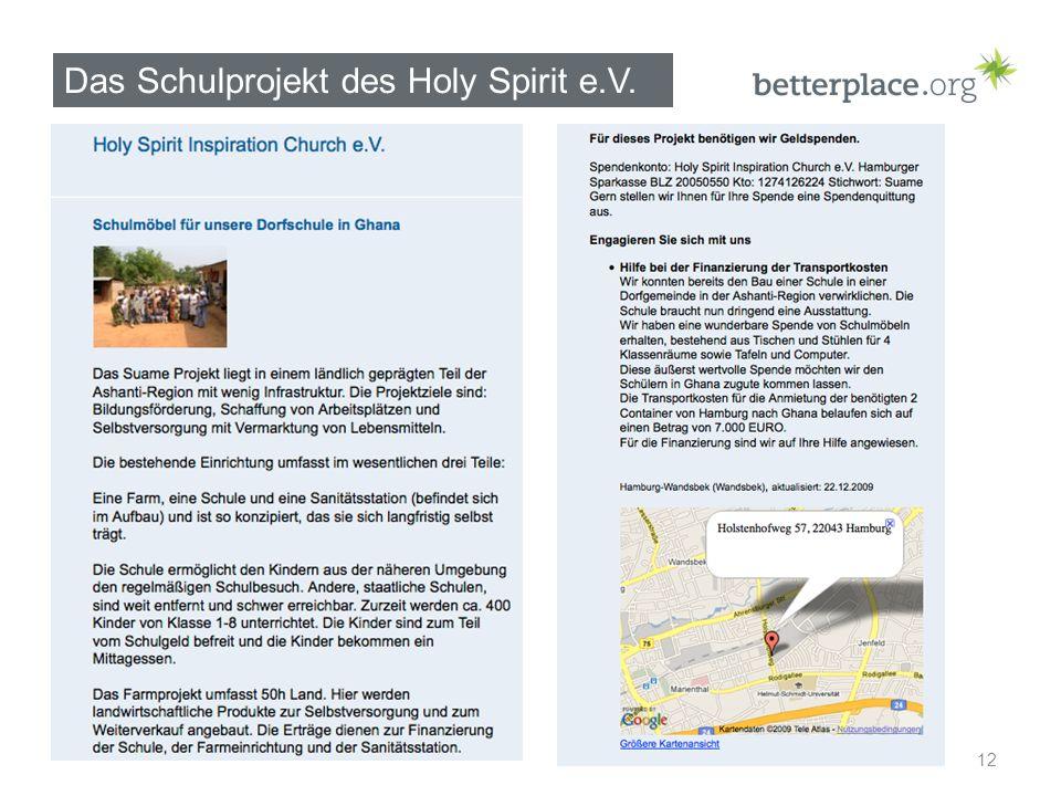 Das Schulprojekt des Holy Spirit e.V. 12