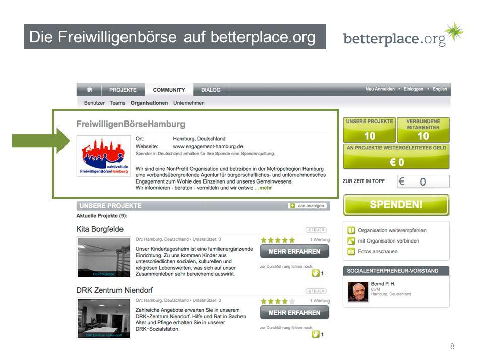 Die Freiwilligenbörse auf betterplace.org 8