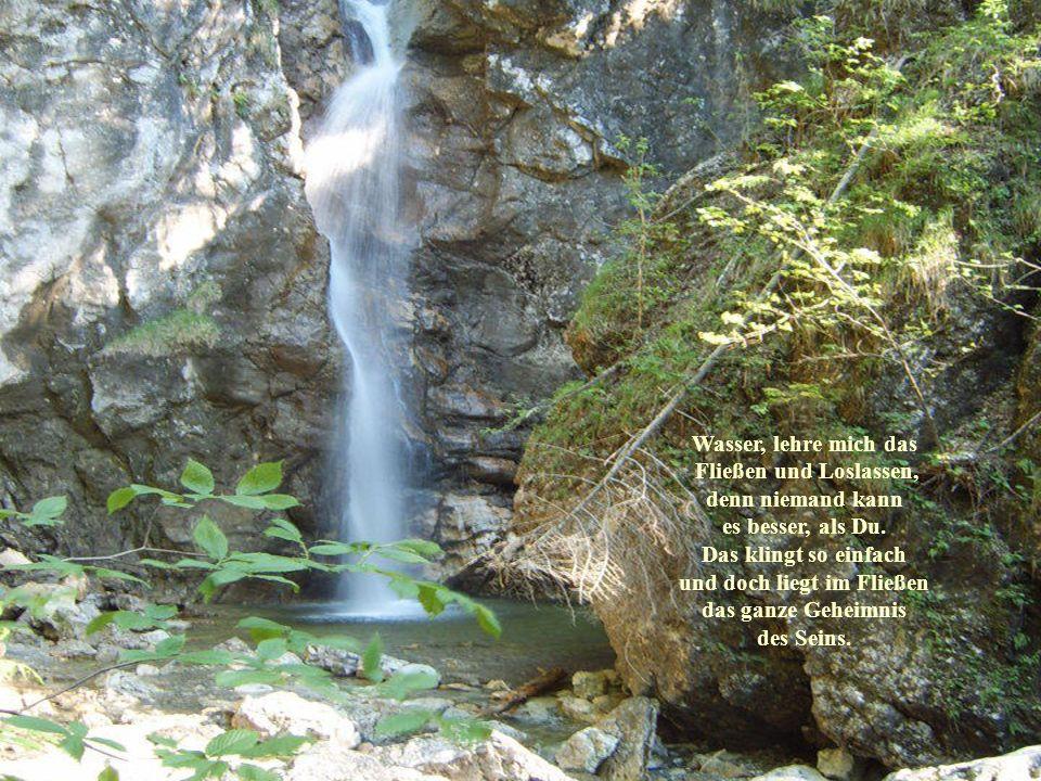 Wasser, lehre mich das Fließen und Loslassen, denn niemand kann es besser, als Du. Das klingt so einfach und doch liegt im Fließen das ganze Geheimnis