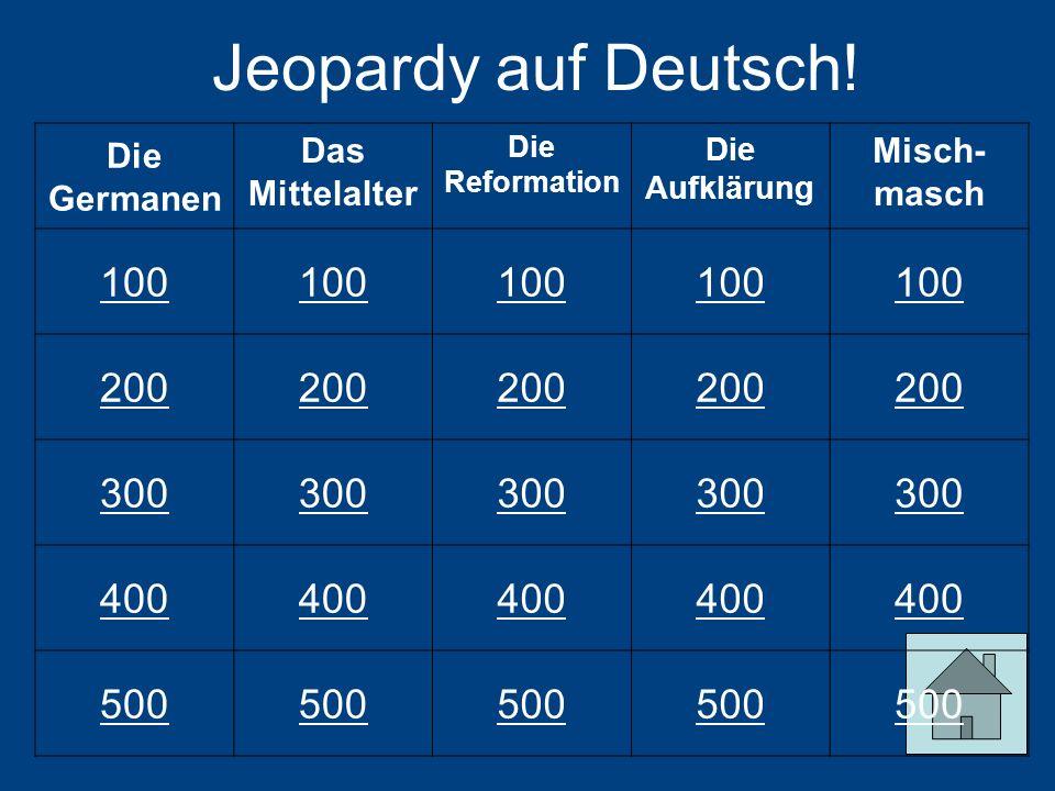 Jeopardy auf Deutsch.
