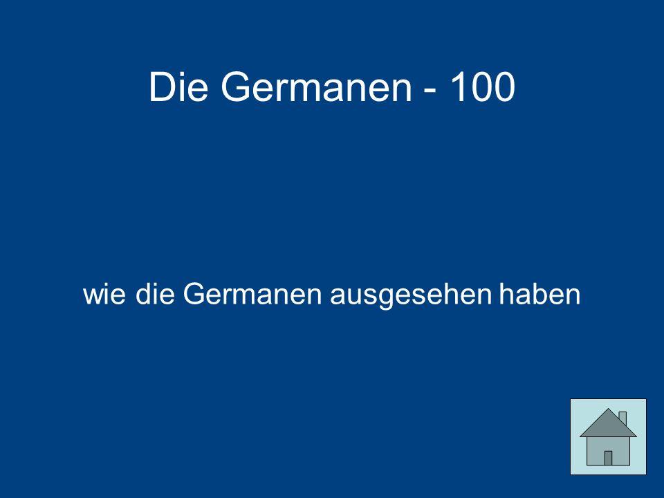 Die Germanen - 100 wie die Germanen ausgesehen haben