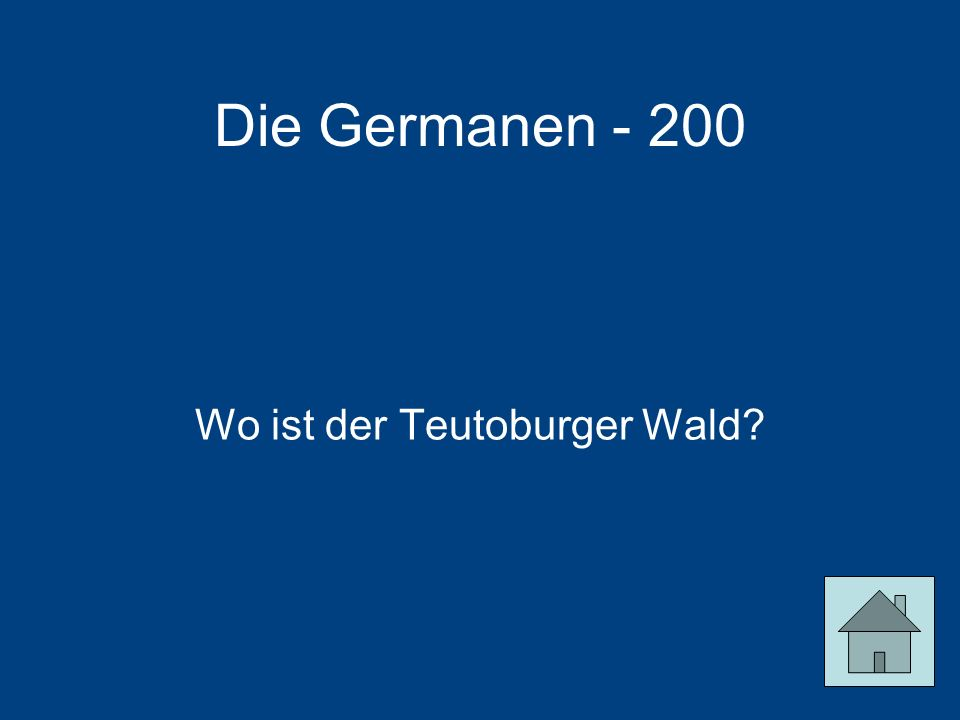 Die Germanen - 200 Wo ist der Teutoburger Wald?
