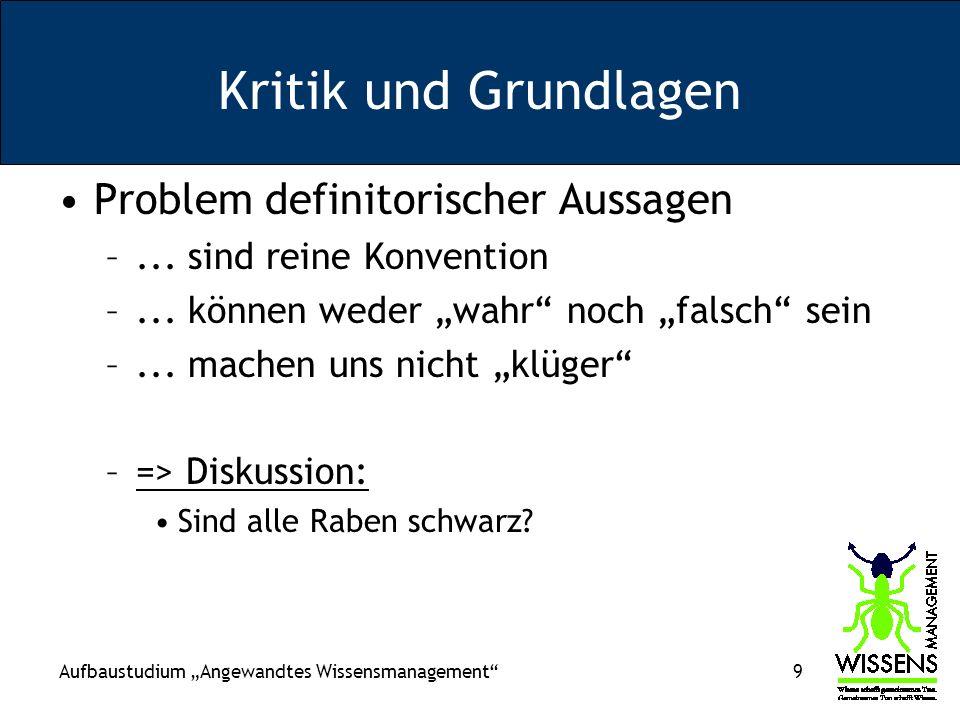 Aufbaustudium Angewandtes Wissensmanagement 10 Rechnungswesen, Achtung.