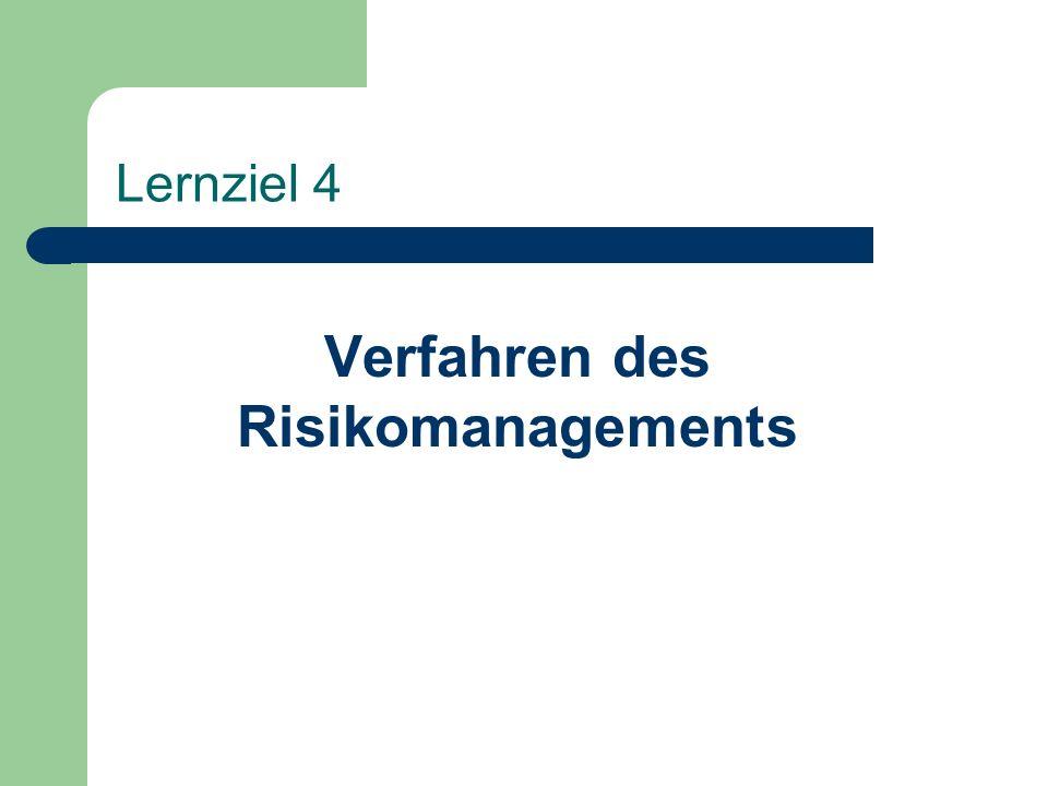 Lernziel 4 Verfahren des Risikomanagements